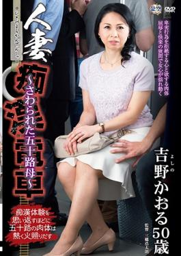 IRO-22 married molester train was touched age fifty mother kaoru yoshino