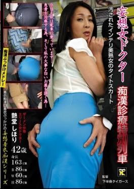FNK-025 - Delusion Woman Doctor Molester Practice Special Train Soiled Intelligent Beauty Milf Tight Skirt - Jams