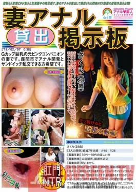 SOAN-025 Studio Yama to Sora The Married Woman Anal Rental Bulletin Board Sakura (28 Years Old) I'm A G Cup Big Tits Former Pink Hostess Housewife I Live In The City Of Zama And I'm Looking For Someone Who Can Give Me Anal Pleasure And An Orgy Sandwich