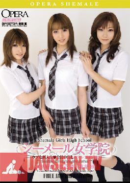 OPUD-096 Studio OPERA Innocent Shemale Girls' School Freshmen - Whole Cast Creampie Lesbian Orgy