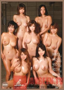 PPSD-009 Studio OPPAI 100cm I-cup, 98cm G-cup, 93cm G-cup, 92cm H-cup, 90cm H-cup, 90cm G-cup, 90cm G-cup - Colossal Tits Harem Orgy