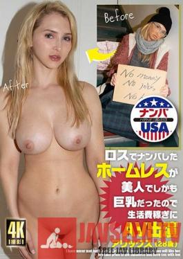 HIKR-171 The Homeless Girl Picked Up In LA Is Not Just Hot But Also Has Big Tits And Appears In AV To Pay Her Rent Alex (Age 28)