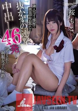 CAWD-178 My Neighbor Is A Dirty Old Man Who Lives In A Stinky, Smelly Apartment, And Now This Girl In A School Uniform Is Getting Pumped Full Of 46 Straight Creampie Cum Shots And Impregnated Like A Domesticated Bitch, And Finally ... Moko Sakura